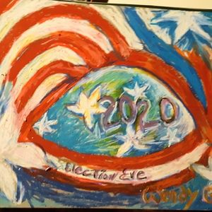 Wendy Gell Art 2020 Election Eve color drawing
